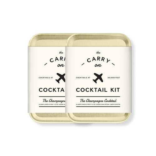 W&P MAS-CARRY-CC-2 Carry on Cocktail Kit, Champagne Cocktail, Travel Kit for Drinks on the Go, Craft Cocktails, TSA Approved, Pack of 2