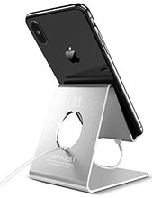 Load image into Gallery viewer, Cell Phone Stand, Lamicall Phone Stand : Cradle Dock Holder Compatible with All Android Smartphone, Phone 7 6 6s 8 X Plus 5 5s 5c XS Max XR Charging, Universal Accessories Desk - Silver