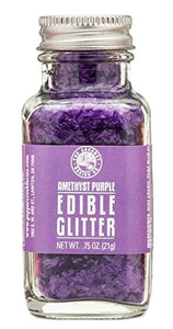 Pepper Creek Farms Edible Glitter, Purple Amethyst, 0.75 Ounce