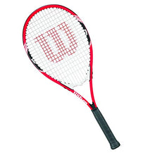 "Load image into Gallery viewer, Wilson Federer Tennis Racket, 4 3/8"" - Red/White"