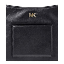 Load image into Gallery viewer, Michael Kors Gloria Leather Messenger BLACK