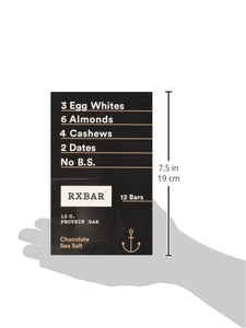 RXBAR Whole Food Protein Bar, Chocolate Sea Salt, 1.83 Ounce (Pack of 12)