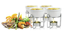 Load image into Gallery viewer, Artestia Ceramic Butter Warmer Set for Seafood (4, white)