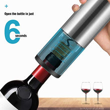 Load image into Gallery viewer, Pekyok Electric Wine Bottle Opener, DT03 Rechargeable Stainless Steel Wine Opener Professional Electric Corkscrew With USB Charging Cable Foil Cutter Led Light for Home, Winery, Party and As Gift - Gray