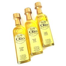 Load image into Gallery viewer, Olio Gift Set of Olive Oils & Balsamic Vinegar | 6 Bottle Pack of Flavored Extra Virgin Olive Oil Cooking Essentials | Top Infused Gourmet Finishing for Meals, Salad, Meat, Vegetables, Dip & Marinade