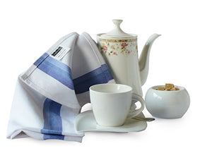 "Harringdons Kitchen Dish Towels Set of 12-Tea Towels 100% Cotton. Large Dish Cloths 28""x20"" Soft and Absorbent. White with Blue, Green and red Stripes, 4 of Each. There's no Substitute for Quality"