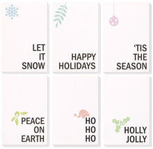 Load image into Gallery viewer, 48-Pack Merry Christmas Greeting Cards Bulk Box Set - Winter Holiday Xmas Holiday Greeting Cards with Minimalistic Design, Envelopes Included, 4 x 6 Inches