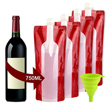 Load image into Gallery viewer, Accmor Wine Bottle Bag Flask, Portable Wine Accessories, Reusable Flexible Collapsible Leek Proof Liquid Accessories for Gift Travel Camping BBQ Party Beach Hiking Home Kitchen