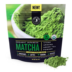 Jade Leaf Matcha Green Tea Powder - USDA Organic, Authentic Japanese Origin - Classic Culinary Grade