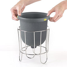 Load image into Gallery viewer, Polder Kitchen Composter-Flexible silicone bucket inverts for emptying and cleaning - no need to touch contents- adjustable lid for ventilation & airflow control, Gray / Green