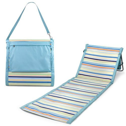 ONIVA - a Picnic Time Brand Beachcomber Portable Beach Mat, St. Tropez