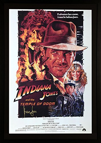 Harrison Ford Indiana Jones Framed Autographed Temple of Doom Movie Poster - BAS - Beckett Authentication