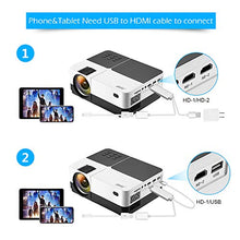 Load image into Gallery viewer, Wsky 2019 Newest LCD LED Outdoor Portable Home Theater Video Projector, Support HD 1080P Best for Outdoor Movie Night, Family, Compatible with Phone, PS4, Xbox, HDMI, USB, SD