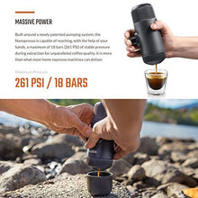 Load image into Gallery viewer, WACACO Nanopresso Portable Espresso Maker bundled with Nanopresso Protective Case, Upgrade Version of Minipresso, 18 Bar Pressure, Extra Small Travel Coffee Maker, Manually Operated