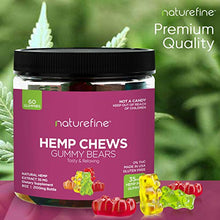 Load image into Gallery viewer, Hemp Gummies - Zero THC CBD Oil Cannabidiol - 2100 MG - 35 MG per Gummie - Hemp Oil for Pain Relief - Relieves Stress & Anxiety, Overall Health - Grown & Made in The USA