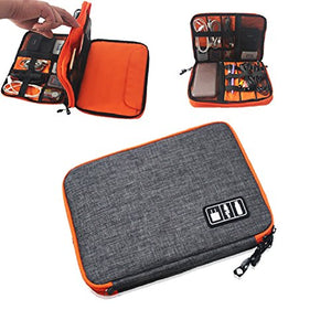 Urmiss Waterproof Double Layer Travel Gear Organizer Electronics Accessories Bag Phone Charger Case iPad Pouch Bags