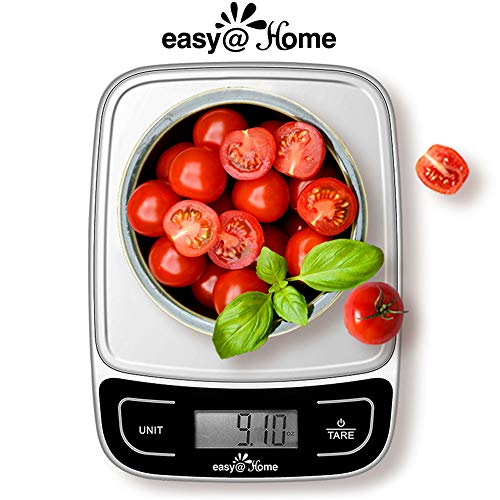 Easy@Home Digital Kitchen Food Scale with High Precision to 0.04oz and 11 lbs capacity, Digital Multifunction Measuring Scale, EKS-202