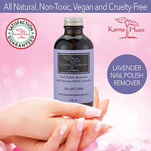 Load image into Gallery viewer, Karma Organic beauty natural Soybean Lavender Nail Polish Remover Nontoxic vegan