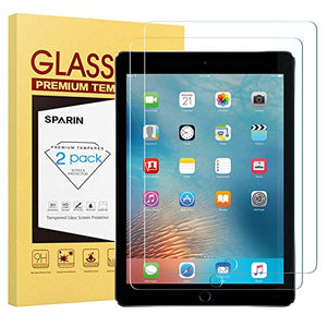 "[2 Pack] New iPad 9.7"" (2018 & 2017) / iPad Pro 9.7 / iPad Air 2 / iPad Air Screen Protector, SPARIN Tempered Glass Screen Protector - Apple Pencil Compatible/High Definition/Scratch Resistant"