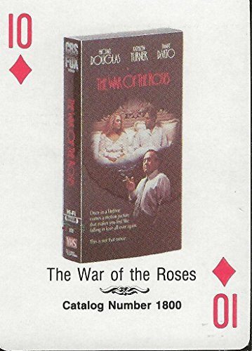 War of the Roses RARE 1988 CBS Fox Promotional Playing Card Michael Douglas
