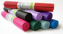 "Load image into Gallery viewer, Kid size Sticky Yoga Mat 3/16"" by 60"" Thick 14 Colors SGS Approved Non-Toxic No Phthalates or Latex by Bean Products"