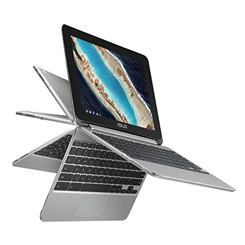 ASUS Chromebook Flip C101PA-DS04 10.1inch Rockchip RK3399 Quad-Core Processor 2.0GHz, 4GB Memory, 32GB storage, All Metal Body, Lightweight, USB Type-C, Google Play Store, 360 degree  HD Touchscreen