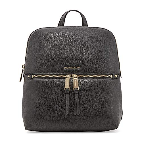 Michael Kors Rhea Medium Slim Leather Backpack BLACK