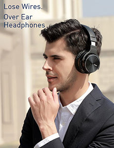 COWIN E7 PRO [2018 Upgraded] Active Noise Cancelling Headphones Bluetooth Headphones with Microphone Deep Bass Wireless Headphones Over Ear 30H Playtime for Travel/Work/TV/Computer/Cellphone - Black