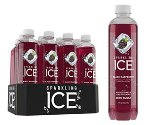 Sparkling Ice Black Raspberry Sparkling Water, with Antioxidants and Vitamins, Zero Sugar