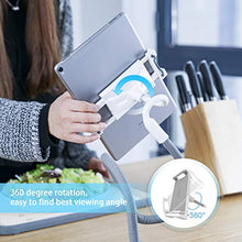"Load image into Gallery viewer, Gooseneck Tablet Holder, Lamicall Tablet Stand: Flexible Arm Clip Tablet Mount Compatible with iPad Mini Pro Air, Nintendo Switch, Samsung Galaxy Tabs, Fire 8 10 More 4.7-10.5"" Devices - Gray"