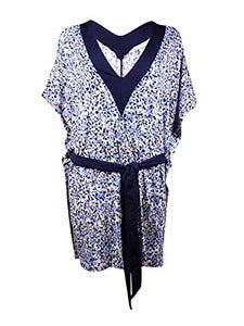 Michael Michael Kors Chilitington V-Neck Tunic Cover-Up, New Navy, MD/LG (Women's (8-12)