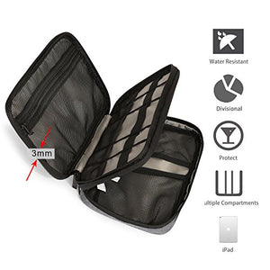 BAGSMART Double-layer Travel Cable Organizer
