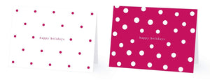 Happy Holidays Greetings Cards Blank Gift Cards | Polka Dots, Stripes, Canes | Bulk Variety Box Set Gift Tag Note Cards | 36 Small Cards with Envelopes | For Office, Coworkers, Christmas