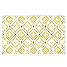 "Load image into Gallery viewer, Kitchen Mat, KIMODE Waterproof Kitchen Rugs Cushioned Chef Soft Non-Slip Rubber Back Floor Mats Washable Oil Proof Doormat Bathroom Runner Area Rug Carpet (18"" x 47"", Yellow Moroccan)"