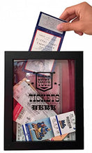 Load image into Gallery viewer, TicketShadowBox - Memento Frame - Large Slot on Top of Frame - Memory Box Storage for Any Size Tickets. Best Top Loading Shadowbox for The Concert Movie Theater & Sporting Event Ticket Stubs