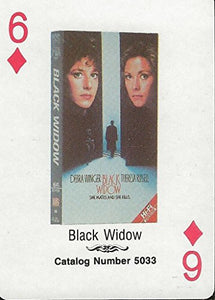 Black Widow RARE 1988 CBS Fox Promotional Playing Card Theresa Russell