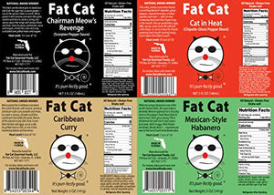"Fat Cat - ""Heat Lovers"" 4 PACK Variety Pack sold by Fat Cat Gourmet Foods"