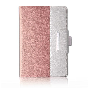 Thankscase Case for iPad Pro 12.9 2017/2015 Release, Rotating Case Cover, Swivel Case Build-in Pencil Holder, Wallet Pocket, Hand Strap. (Not Fit iPad Pro 12.9 2018 Release)-Rose Gold
