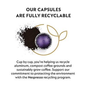 Nespresso Capsules VertuoLine, Espresso Variety Pack, Medium and Dark Roast Espresso Coffee, 50 Count Coffee Pods, Brews 1.35 oz