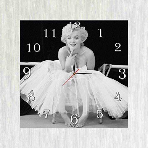 Art time production FBA Marilyn Monroe 11.4'' Handmade Wall Clock - Get Unique décor for Home or Office – Best Gift Ideas for Kids, Friends, Parents and Your Soul Mates