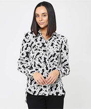Load image into Gallery viewer, Diane von Furstenberg Women's Silk Carter Chain Print Shirt White US 8