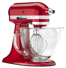 Load image into Gallery viewer, KitchenAid KSM155GBCA 5-Qt. Artisan Design Series with Glass Bowl - Candy Apple Red