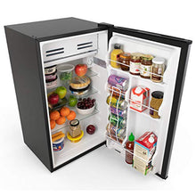 Load image into Gallery viewer, hOmeLabs Mini Fridge - 3.3 cu ft Under Counter Refrigerator with Covered Chiller Compartment - Small Drink Food Storage Machine for Office, Dorm or Apartment with Adjustable Removable Glass Shelves