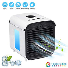 Load image into Gallery viewer, QSLLER Personal Space air Cooler Personal Space air Conditioner Fan,Mini air Humidifier Quiet air Purifier USB Desktop Cooling Fan with 3 speeds for Room Travel Office