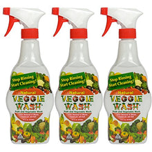 Load image into Gallery viewer, Veggie Wash All Natural Fruit and Vegetable Wash Sprayer, 16-Ounce Spray, 3-Pack