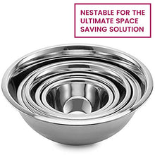 Load image into Gallery viewer, Stainless Steel Mixing Bowls by Finedine (Set of 6) Polished Mirror Finish Nesting Bowl, ¾ - 1.5-3 - 4-5 - 8 Quart - Cooking Supplies