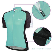 Load image into Gallery viewer, Beory Womens Cycling Jerseys with Short Sleeves,Girls Bike Short Sleeves with Three Pockets