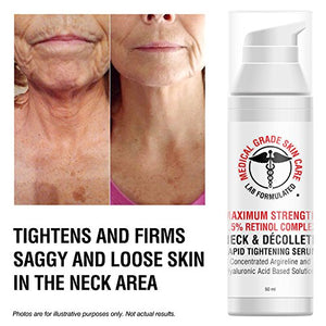 Neck & Décolleté Tightening Serum | Best Anti-Aging Firming Neck Cream Made With Maximum Strength