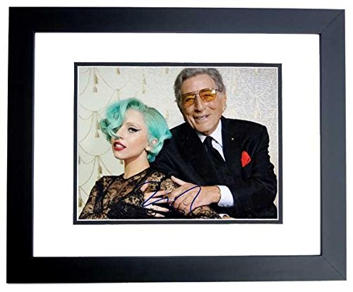 Lady Gaga Signed - Autographed Concert 8x10 inch Photo pictured with Tony Bennett - BLACK CUSTOM FRAME - Guaranteed to pass or JSA - PSA/DNA Certified