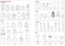 Load image into Gallery viewer, Essentials Fashion Sketchbook (366 Figure Templates to create your own designs!) Fashion Sketchpad